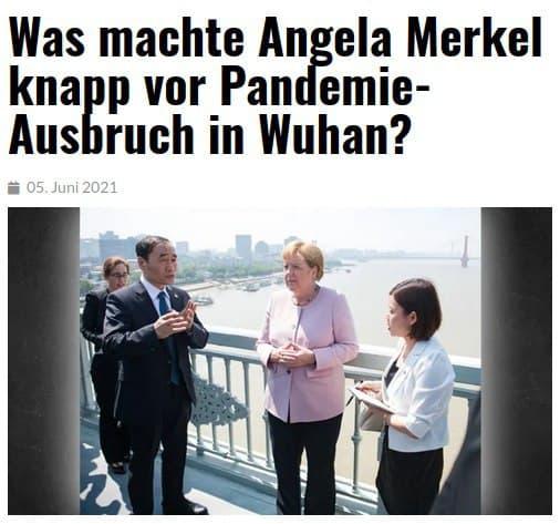 GUTE FRAGE: Was machte Angela Merkel knapp vor Pandemie-Ausbruch in Wuhan?