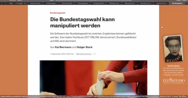 Die Bundestagswahl kann manipuliert werden