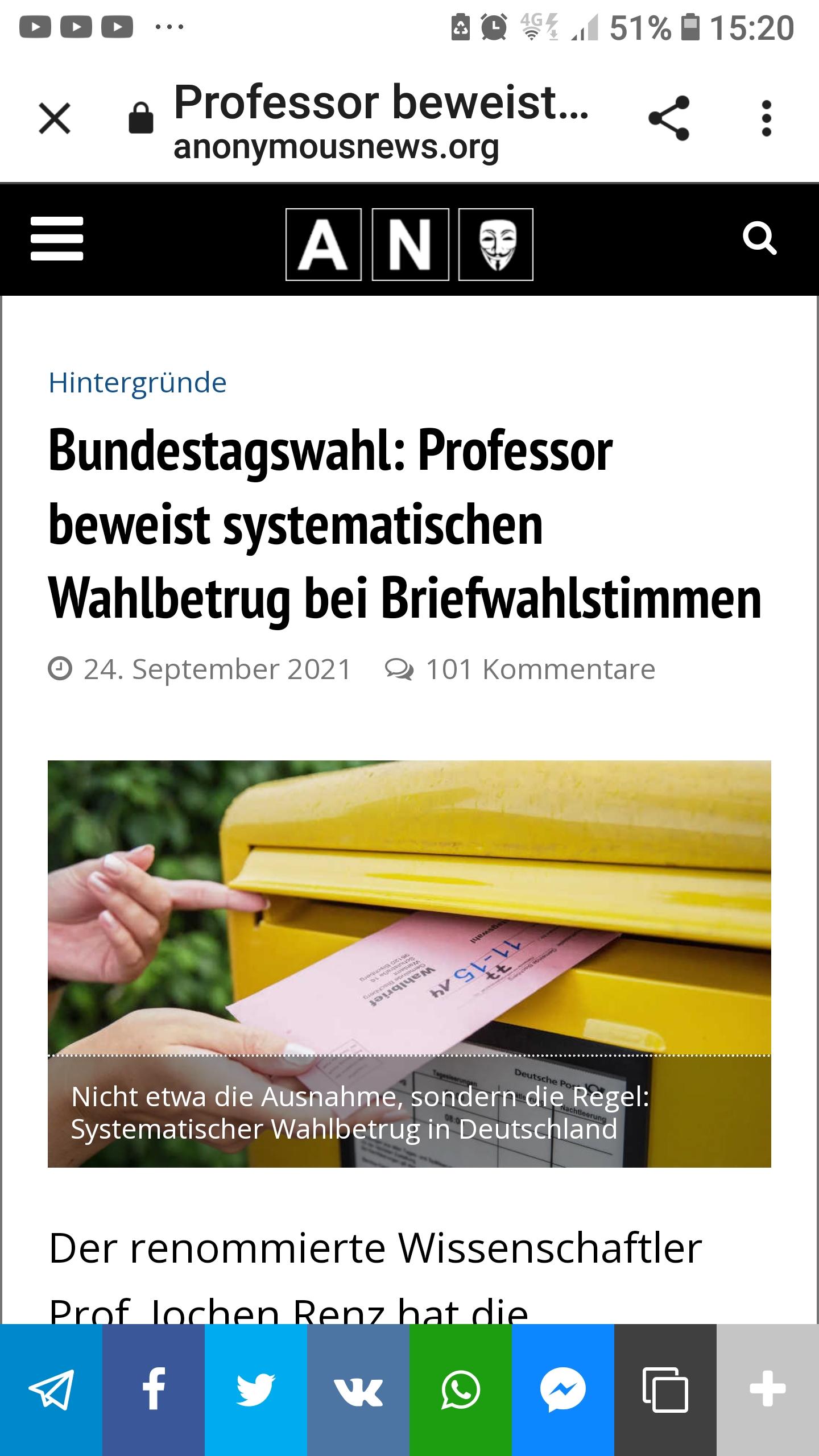 Wahlbetrug bei Bundestagswahl 2021 durch Professor bewiesen