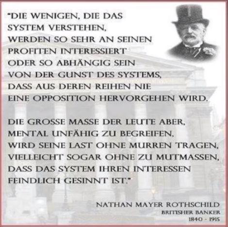 Die Wenigen, die das System verstehen...