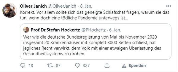 Retweet Oliver Janich - Prof. Dr. Stefan Hockertz