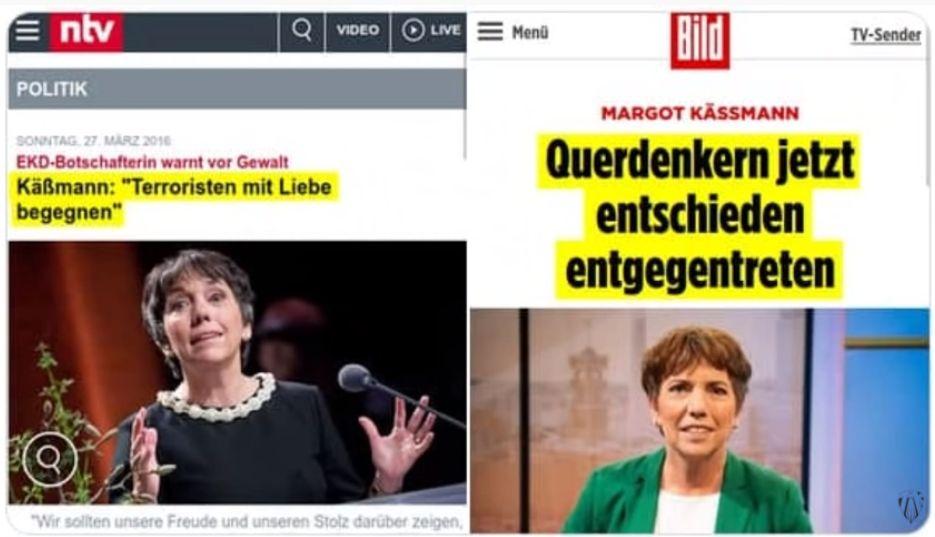 Trunkenheitsfahrerin und EKD-Botschafterin Margot Käßmann (Meingott Kässmann!) hat ein differenziertes Verhältnis zu Terroristen