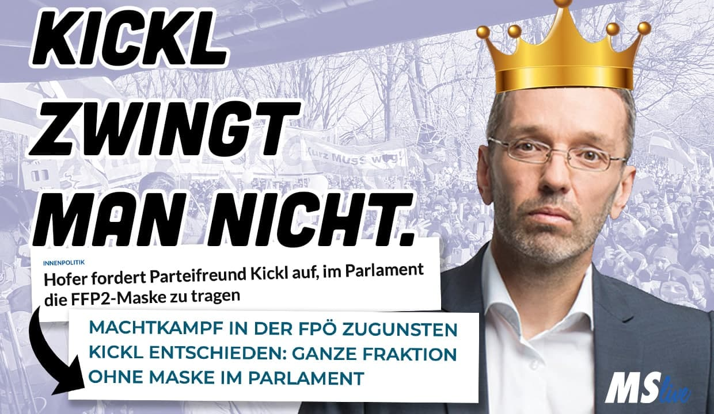 NACH HOFERS MASKENAPPELL: GANZE FPÖ FRAKTION OHNE MASKE IM PARLAMENT!