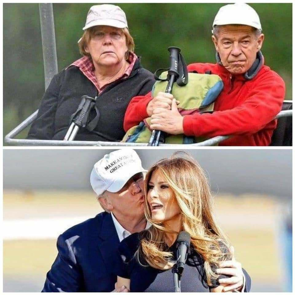 Merkel? Trump? Manchmal gewinnt Trump und manchmal verlieren die Anderen ;-)
