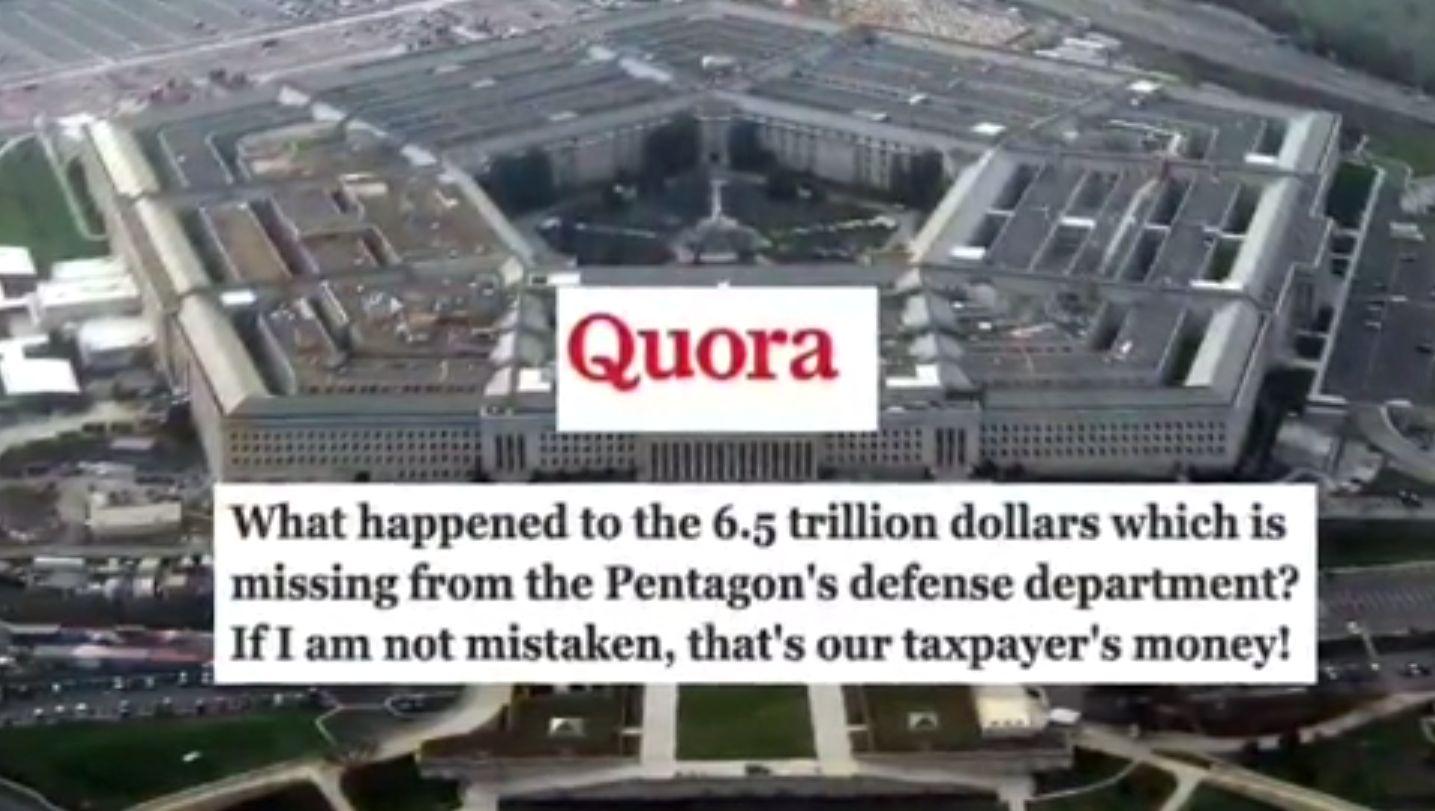 Ex-Verteidigungsminister Romsey am 10.9.2001: Es fehlen dem Pentagon 2.3 Billionen Dollar! Aber das ist noch lange nicht alles!