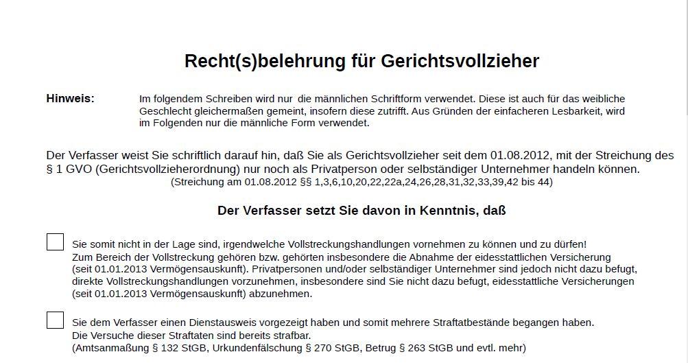Rechtsbelehrung für Gerichtsvollzieher (PDF-Download)