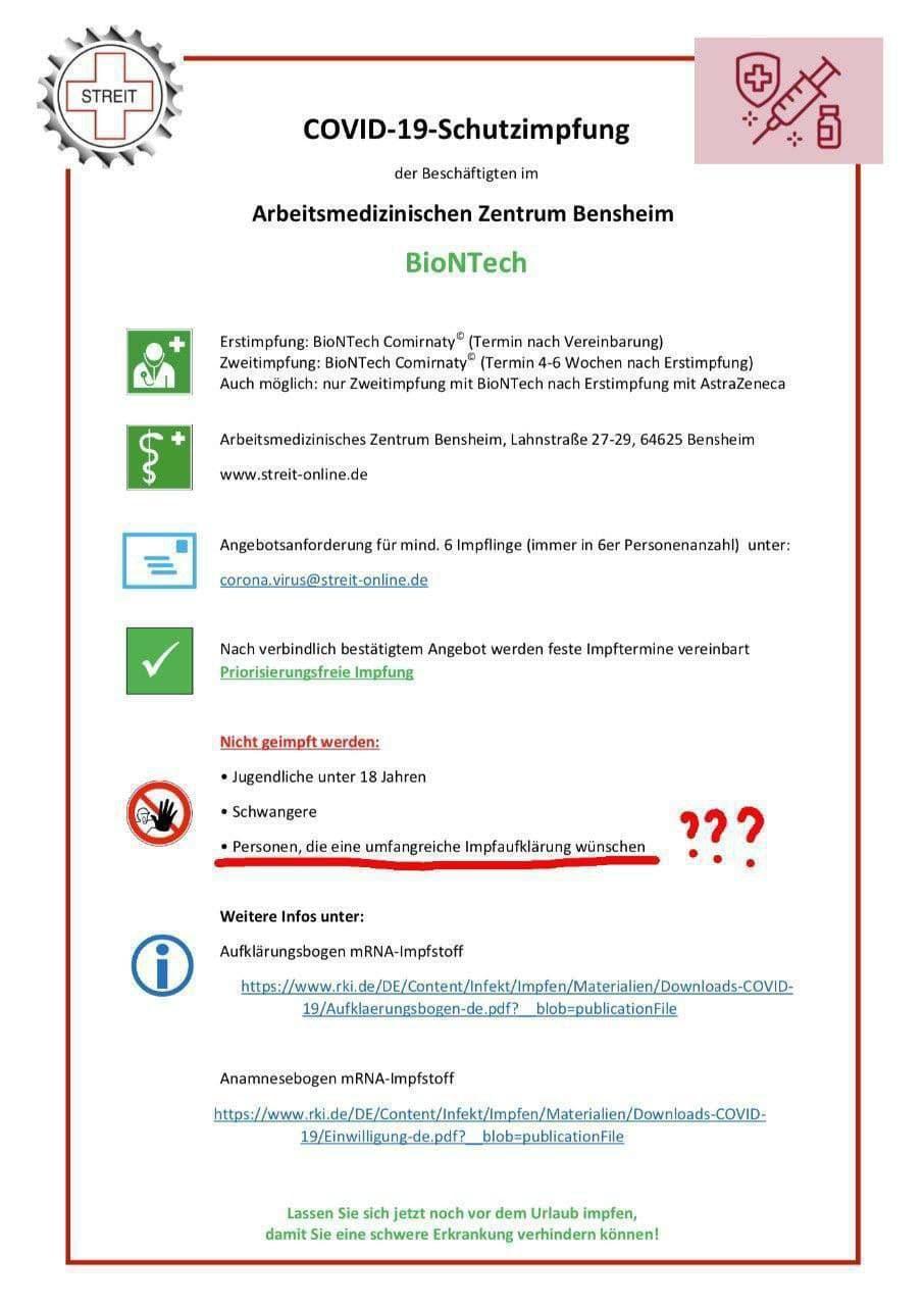 Plakat Arbeitsmedizinisches Zentrum Bensheim