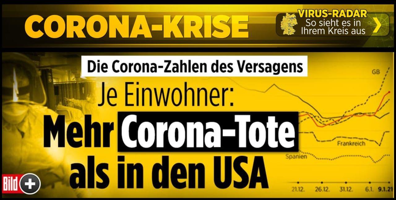 BILD: Mehr Corona-Tote als in den USA?