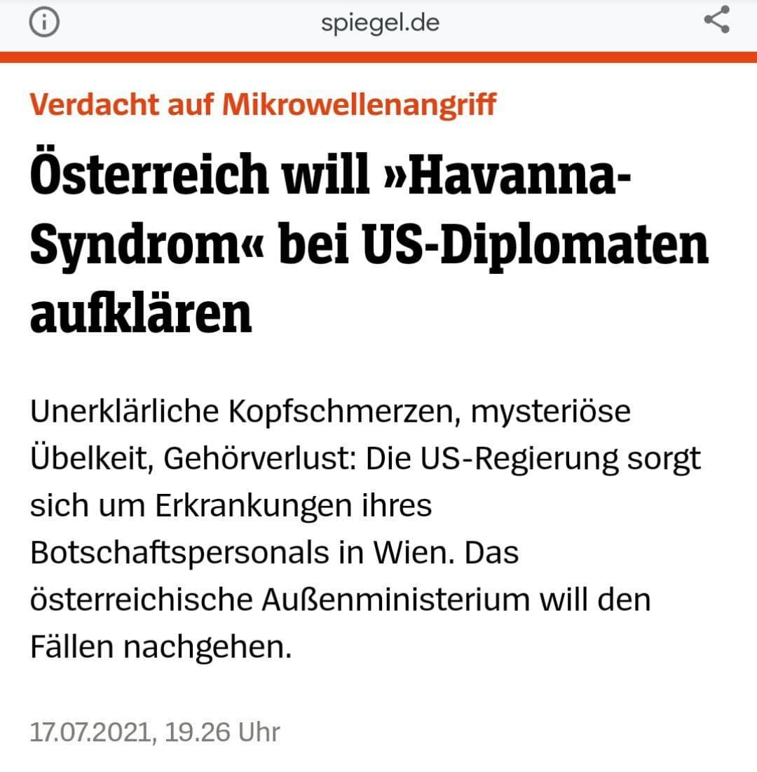 Verdacht auf Mikrowellenwaffen: Österreich will Havanna-Syndrom bei US-Diplomaten aufklären