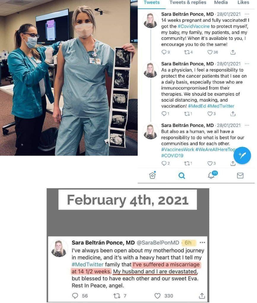 Sara Beltran Ponce: Eine Ärztin und angebliche Medizinern (nur auf Papier) hat ohne es zu merken ihr Kind mit der COVID-19 Impfu