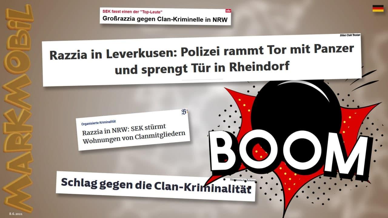 MARK MOBIL: Razzia in Leverkusen - Schlag gegen die Clan-Krimininalität