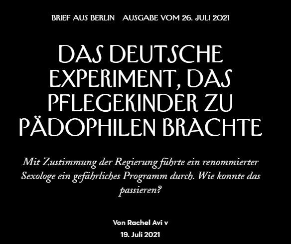 DAS KENTLER-EXPERIMENT: Das deutsche Experiment, das Pflegekinder zu Pädophilen brachte