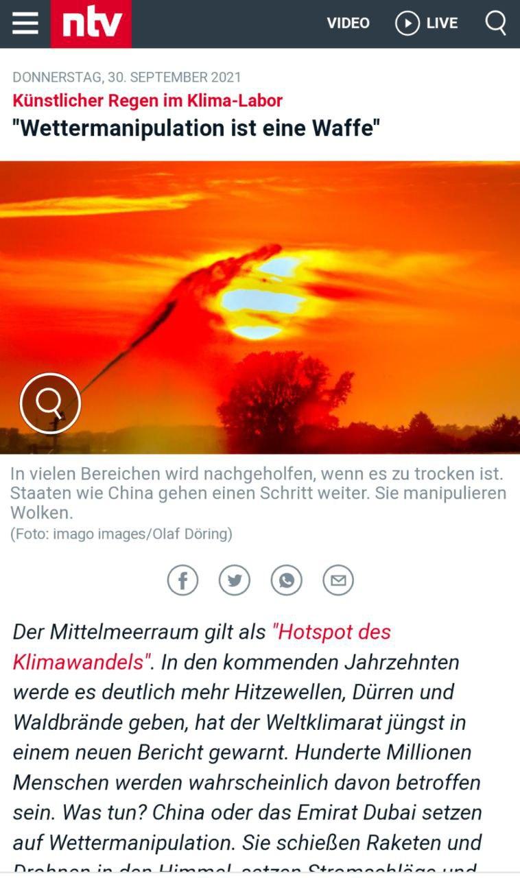 NTV: Wettermanipulation ist eine Waffe