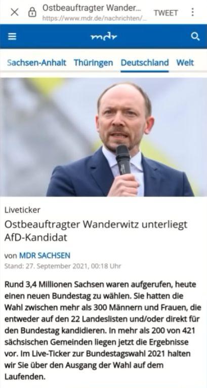 Ostbeauftragter Wanderwitz unterliegt AfD-Kandidat