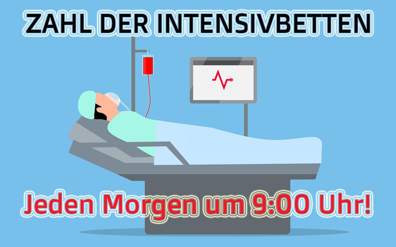 TELEGRAM: Intensivbetten - jeden Morgen um 9 Uhr!