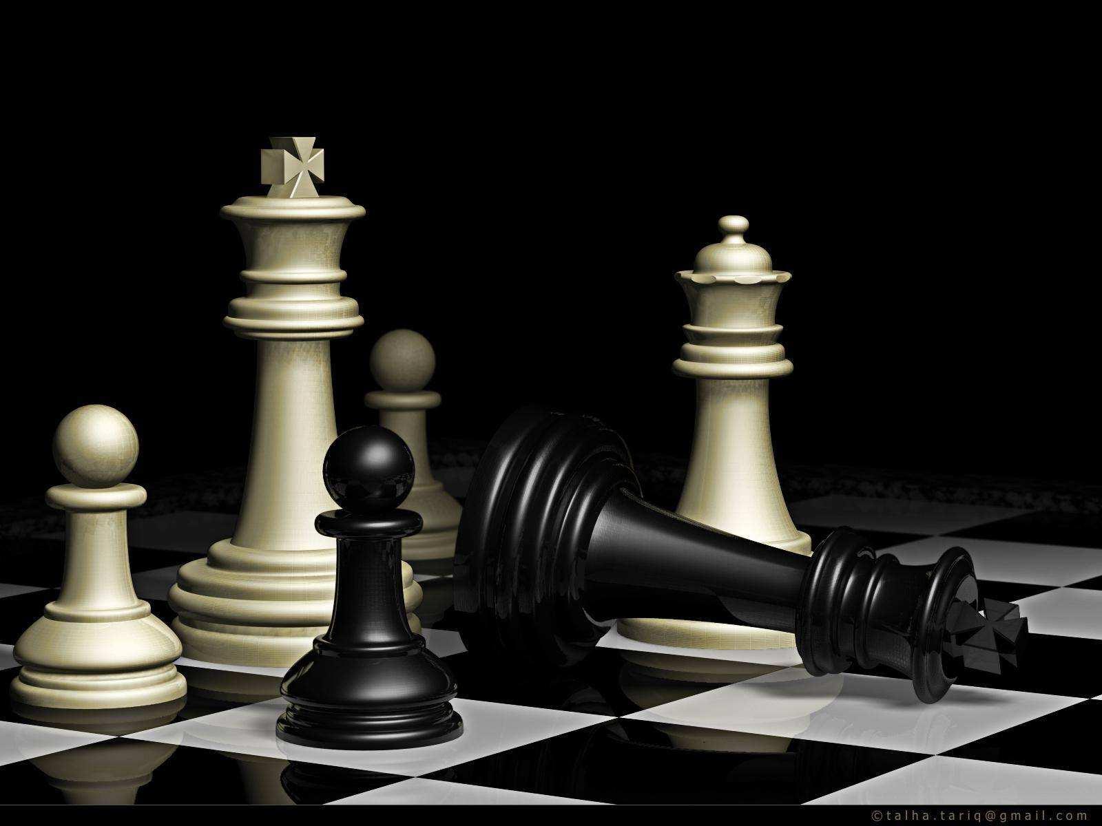 Wie wäre es mit einer schönen Partie Schach? Schachmatt!