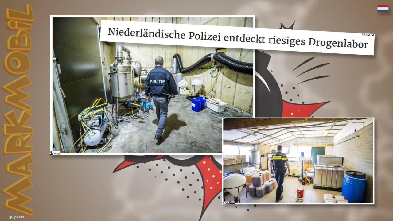 MARKmobil: Tonne um Tonne - Drogenlabor in den Niederlanden