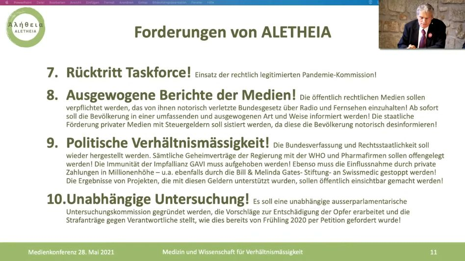 2) FORDERUNGEN ZUR WAHL DES COVID-GESETZES AM 13.06.2021 IN DER SCHWEIZ